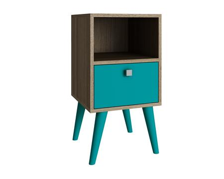 """Accentuations Abisko Collection 1AMC12X 63"""" 1-Shelf Side Table with 1 Cubby, 1 Drawer and Knob Design in"""