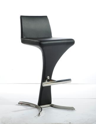 VIG Furniture VGOBA99PBLK Modrest Ascella Series Residential Bar Stool