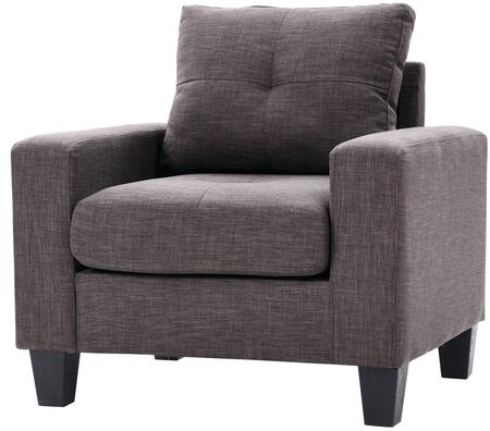 Glory Furniture G472AC Newbury Series Faux Leather Armchair in Grey