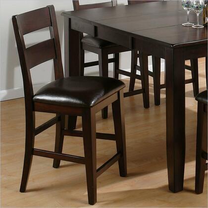 Jofran 972BS762KD Prairie Series Residential Faux Leather Upholstered Bar Stool