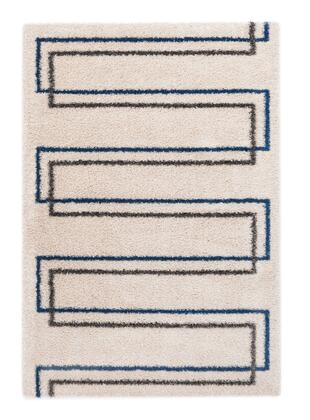 Citak Rugs 5630-025X Shoreline Collection - Seawall - White/Teal
