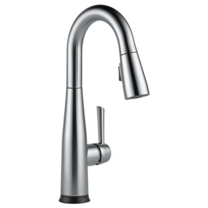 Essa  9913T-AR-DST Delta Essa: Single Handle Pull-Down Bar / Prep Faucet with Touch2O Technology in Arctic Stainless