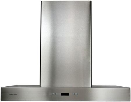 "Cavaliere SV218Z Wall Mount Range Hood With 900 CFM, Dishwasher Safe, 30 Hour Cleaning Reminder, 6"" Round Duct Vent, Electronic Button Control Panel, LED Display In Stainless Steel"