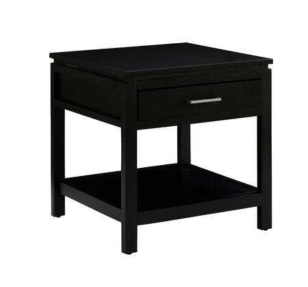 Linon 84028BLK01KDU Sutton Series Contemporary Rectangular End Table