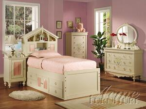 Acme Furniture 02210T Doll House Series  Book Case Bed