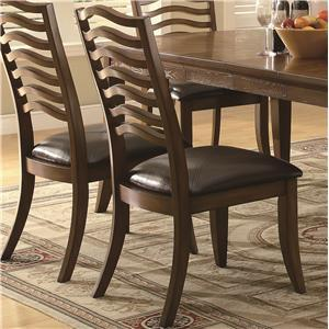 Coaster 103542 Avery Series Casual Vinyl Wood Frame Dining Room Chair