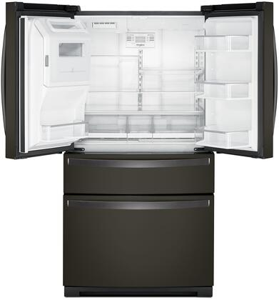 whirlpool gold french door refrigerator. whirlpool main image ice in door interior view gold french refrigerator