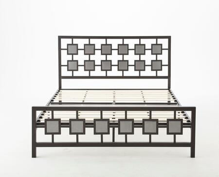 Rest Rite Lydia Collection MFP02653xx X Size Platform Bed with Metal Frame and Modern Style in Black and Silver