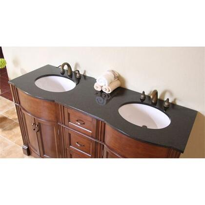 Legion Furniture WLF5045-XX-61 61in. Granite, Backsplash and Cupc Sink