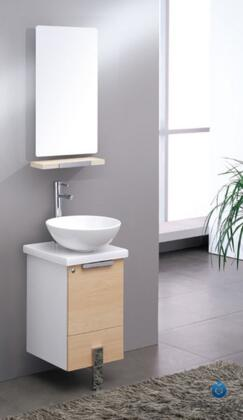 """Fresca Adour Collection FVN8110 16"""" Modern Bathroom Vanity with Mirror, Soft Closing Door and Ceramic Vessel Sink in"""