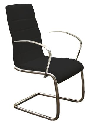 """Casabianca Avenue Collection 37.75"""" Arm Chair with Chrome Frame, High Back and Eco-Leather Upholstery in"""