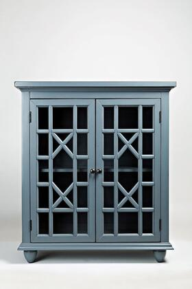 "Jofran Brighton Park Collection 15XX-31 31"" Accent Cabinet with Two Glass Doors and Adjustable Interior Shelves in"