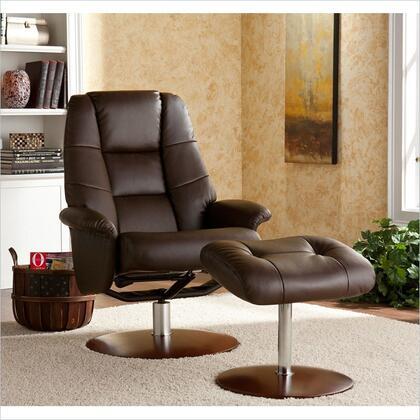 Holly & Martin 85238046104 Transitional Bonded Leather Metal Frame  Recliners