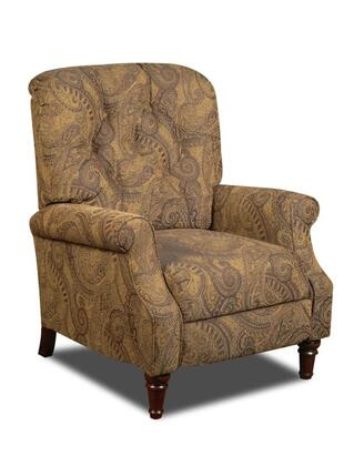 Chelsea Home Furniture 18265066370 New Hampshire Series Traditional Isle Tobacco Wood Frame  Recliners