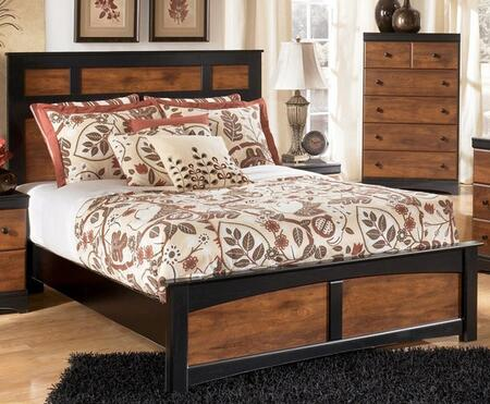 Signature Design by Ashley B136PANELBED Aimwell Collection Youth X Size Bed in Two Tone Warm Brown
