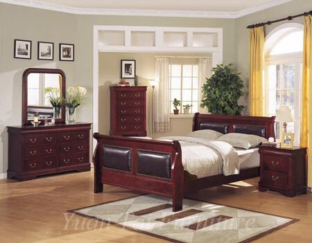 Yuan Tai 4800Q Louis Philippe Series  Queen Size Padded Sleigh Bed