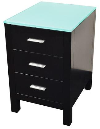 Virtu USA MDC4418 Brentford Series Freestanding Wood 3 Drawers Cabinet