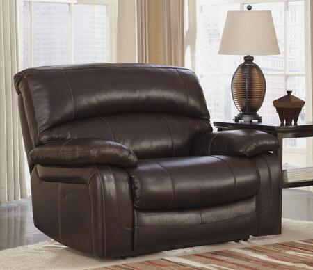 Signature Design by Ashley Damacio U9820X82 Zero Wall Power Wide Recliner with Bustle Back Design, Pillow Padded Arms and Constructed with Metal Drop-In Unitized Seat Box in