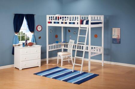 Atlantic Furniture AB62002  Twin Size Bunk Bed