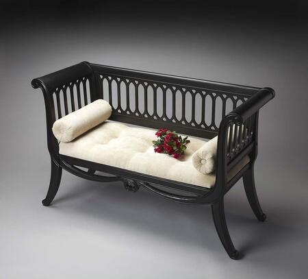 Butler 0284111 Masterpiece Series Accent  Hardwood Chenille Fabric Bench