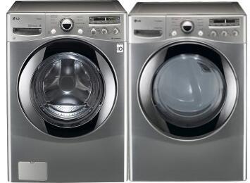 LG WM2655HVA-DLEX2655V-PAIR Steamwasher Washer and Dryer Com
