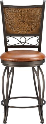 Powell 222A Stamped Back 360 Swivel Barstool