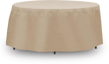 "PCI by Adco 54"" x 30"" Round Table Cover with UV Treated, Water Resistant, Secured Velcro Ties and Heavy Duty Vinyl Fabric in"
