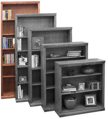 Legends Furniture TT6684GDOTraditional Series Wood 6 Shelves Bookcase
