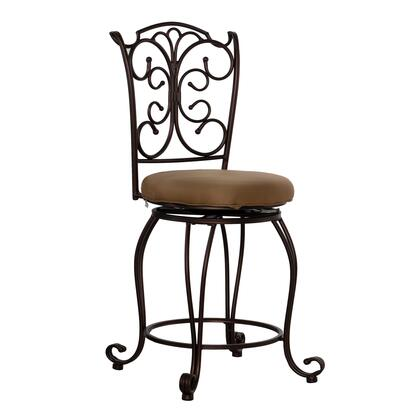 Linon 02790MTL01KDU Commercial or Residential Fabric Upholstered Bar Stool
