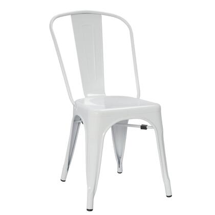 Fine Mod Imports FMI10014WHITE Talix Series  Metal Frame  Patio Chair