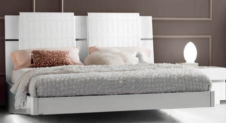 ESF Status Caprice collection i704-X Bed with Wooden Spring in White