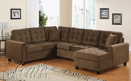 Acme Furniture 50180 Aspen Series Sectional Sofa Fabric Sofa