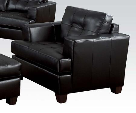 Acme Furniture 15092 Platinum Series Bonded Leather Armchair with Wood Frame in Black
