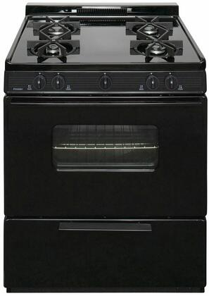 "Premier BMK5X0  ADA Compliant 30"" Cordless Battery Spark Gas Range with 3.9 Cu. Ft. Capacity, Four Sealed Burners, Cast-Iron Grates, 1.5"" Porcelain Backguard and a Window Oven Door"