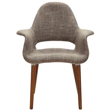 Modway EEI555TAU Aegis Series Armchair Fabric Wood Frame Accent Chair
