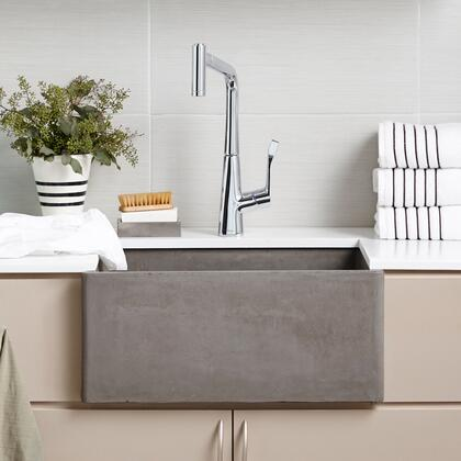 "Native Trails NativeStone Kitchen Sinks Collection 19"" Farmhouse 2418 Kitchen Sink with 3.5"" Drain, Single Bowl, Lightweight Concrete Material, Scratch and Stain Resistant in"