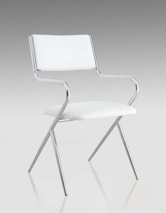 Chintaly JOYCE-SC-WHT JOYCE DINING Painted Grey Metal Director Side Chair