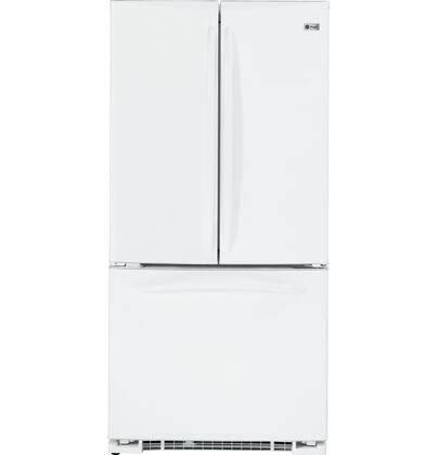 GE PFSF2MIYWW  French Door Refrigerator with 22 cu. ft. Total Capacity 4 Glass Shelves