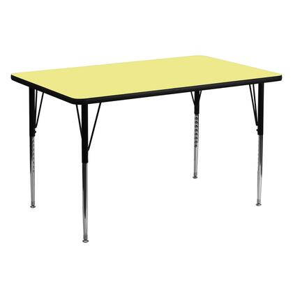 "Flash Furniture XU-A3060-REC-RXX-T-A-GG 30""W x 60""L Rectangular Activity Table with Thermal Fused Laminate Top and Standard Height Adjustable Legs"