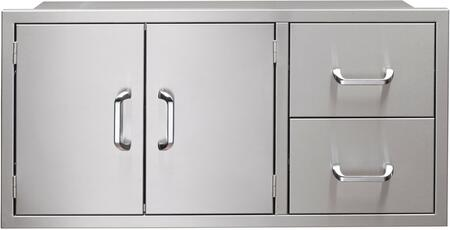 """Vintage VPDC XX"""" Pantry Door and Drawer Combo in Stainless Steel"""