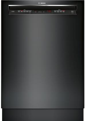 "Bosch SHEM63W5XN 24"" Energy Star Rated 300 Series Recessed Handle Dishwasher with 16 Place Settings, 3 Racks, Tall Tub, 5 Wash Cycles, and 4 Wash Options, in"