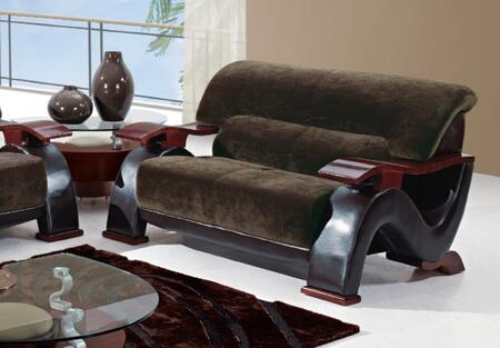 Global Furniture USA U2033CHAMPCHOCL Fabric Stationary with Wood Frame Loveseat