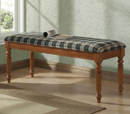 Monarch I4837 Accent Armless Wood Fabric Bench