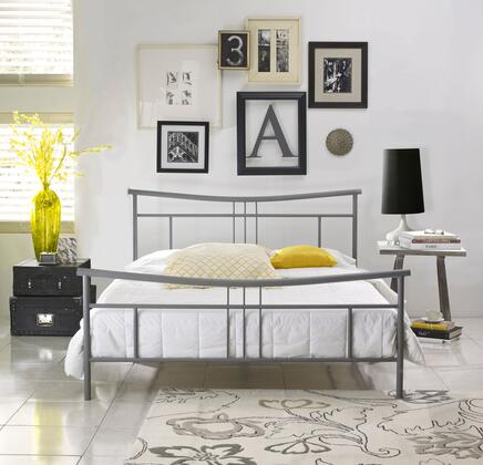 Rest Rite Dover MFP01253xx X Size Platform Bed with Metal Frame and Modern Style in Silver