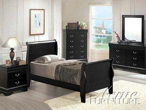 Acme Furniture 00417F Louis Philippe Series  Sleigh Bed