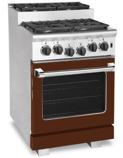 American Range ARR244SHB Titan Series Gas Freestanding Range with Sealed Burner Cooktop, 3.71 cu. ft. Primary Oven Capacity, in Brown