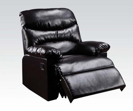"""Acme Furniture Arcadia 38"""" Recliner with Overstuffed Pillow Top Arms, Split Back Cushion, Solid Wood Construction and Bonded Leather Upholstery in Color"""