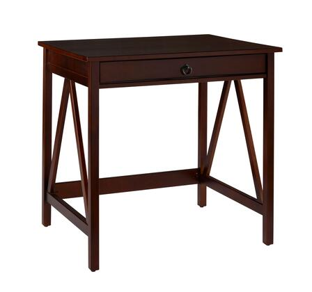 Linon 86155ATOB01KDU Titian Series Computer/Laptop  Pine and Painted MDF Desk