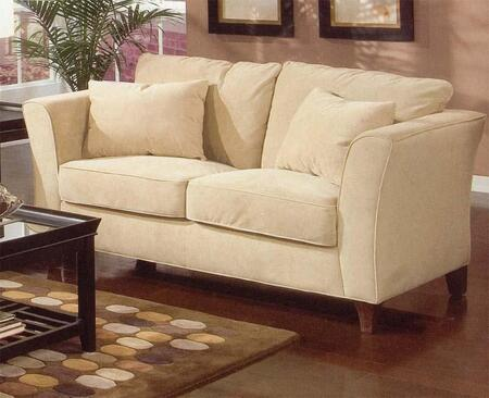Coaster 500232 Park Place Series Fabric Stationary with Wood Frame Loveseat
