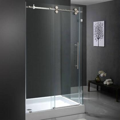 "Vigo VG6051XXCL48WL 36"" x 48"" Frameless 3/8"" Shower Enclosure with Left Base:"